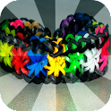 Rainbow loom rubber bands icon