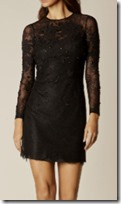 Karen Millen Floral Lace Black Dress