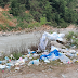 Locals protest after garbage piled up at the crematorium