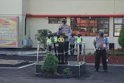 Polres Cianjur dan Dinas Perhubungan serta Subdenpom Lakukan Apel Gelar Pasukan Ops Keselamatan Lodaya2021