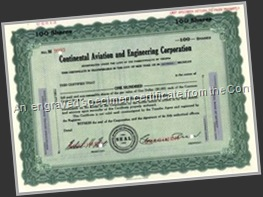 Continental Aviation Certificate
