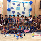 Blue Day Celebrated by Playgroup Evening Section at Witty World, Chikoowadi (2017-18)