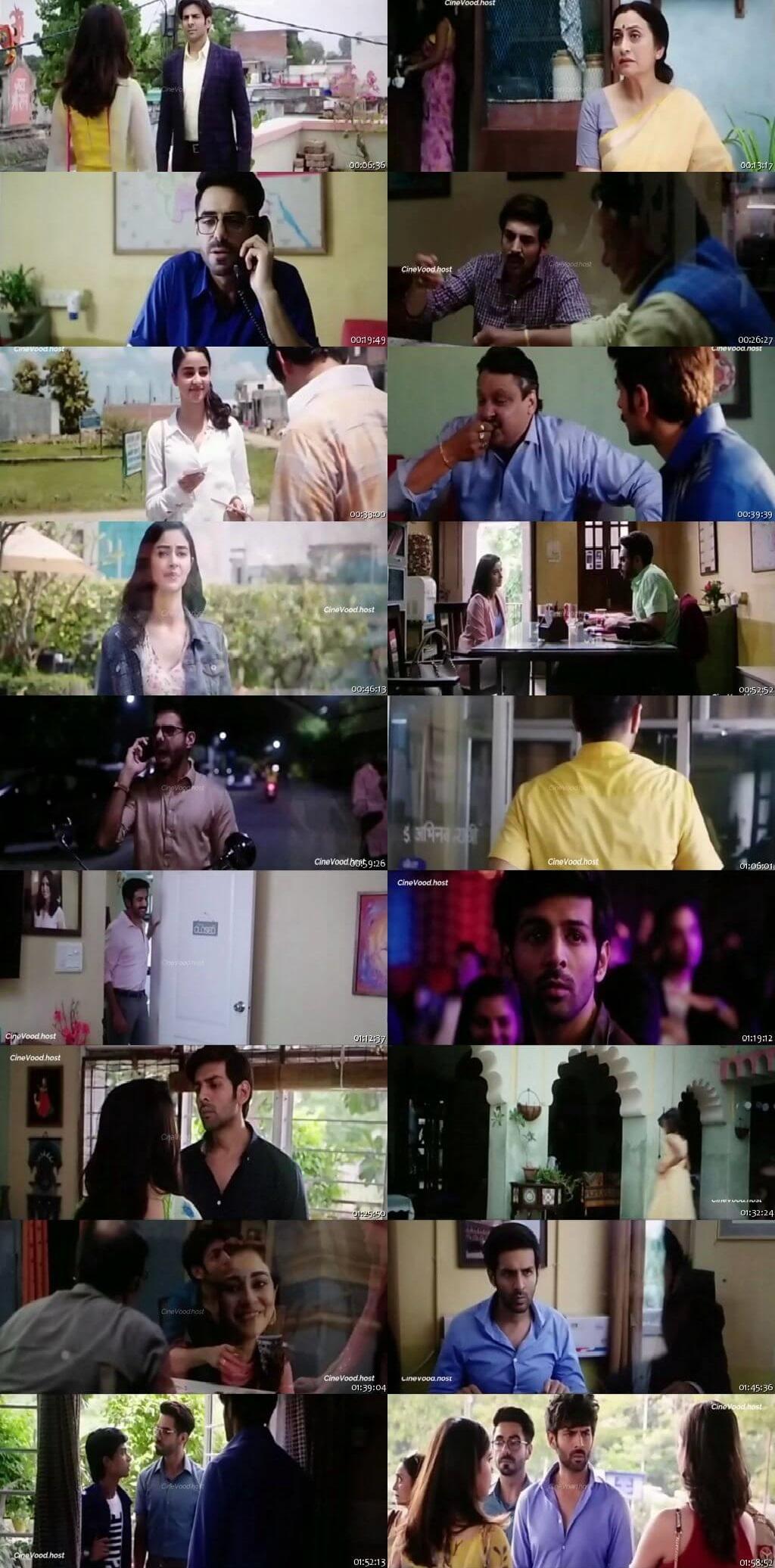 Screen Shot Of Pati Patni Aur Woh 2019 300MB Pdvd Full Hindi Movie Watch Online Free Download