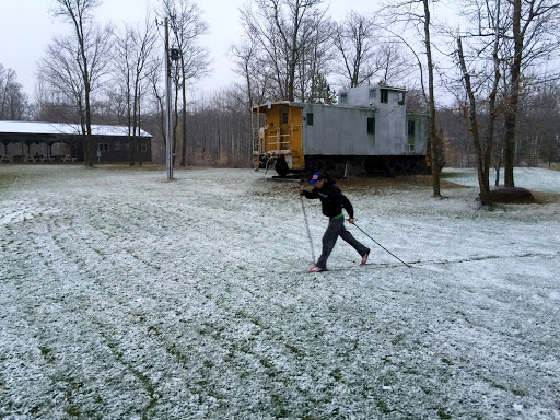 Obligatory first ski on first snow....quick before school!