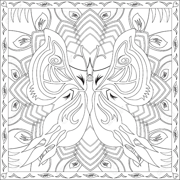 Mandala Designs Coloring Book With  Page Coloring Book For Adults  Square Format Butterfly Mandala Design