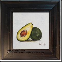 Avocado framed green 6x6