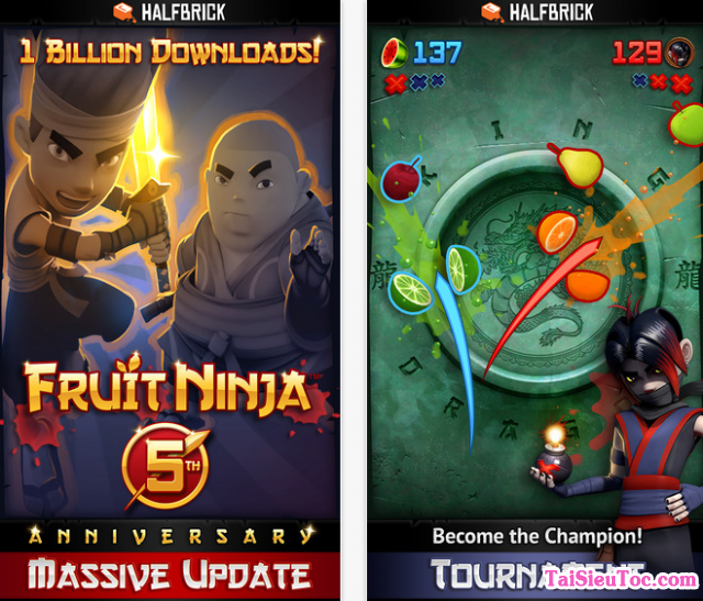 giới thiệu game chém hoa quả Game Fruit Ninja cho iPhone