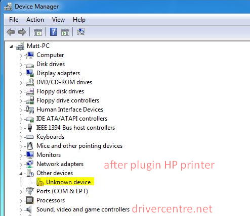 missing HP PSC 1200 driver