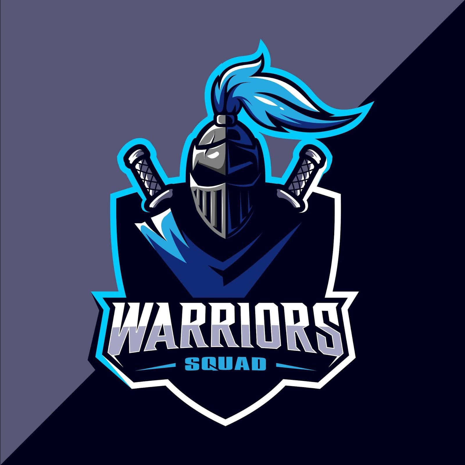 Warrior Esport Mascot Logo Design Free Download Vector CDR, AI, EPS and PNG Formats