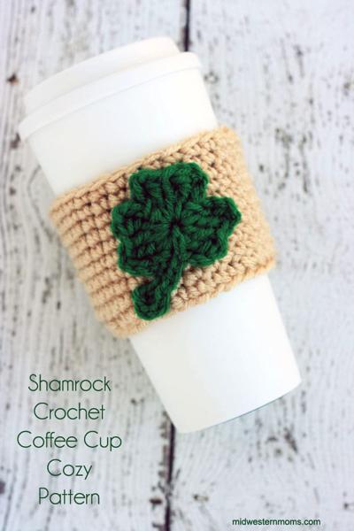 shamrock cup cozy