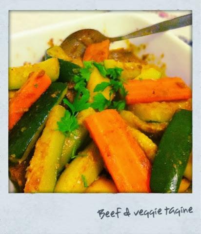 Beef & veggie tagine
