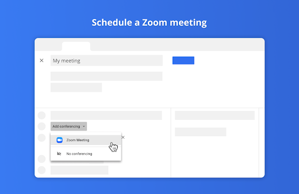 Zoom for Google Calendar - G Suite Marketplace