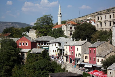 Mostar old town in Bosnia