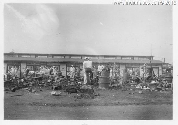 1941 Speedway Garage Fire Ruins