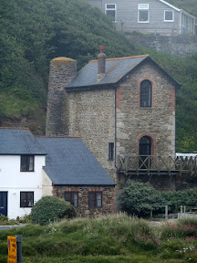 Porthtowan former Wheal Lushington mine engine house which has been converted into a  residential property
