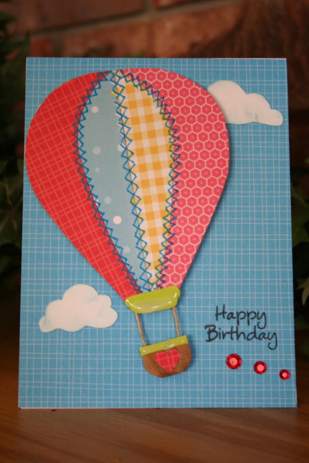 Handmade from the heart hot air balloon birthday hot air balloon birthday bookmarktalkfo Image collections