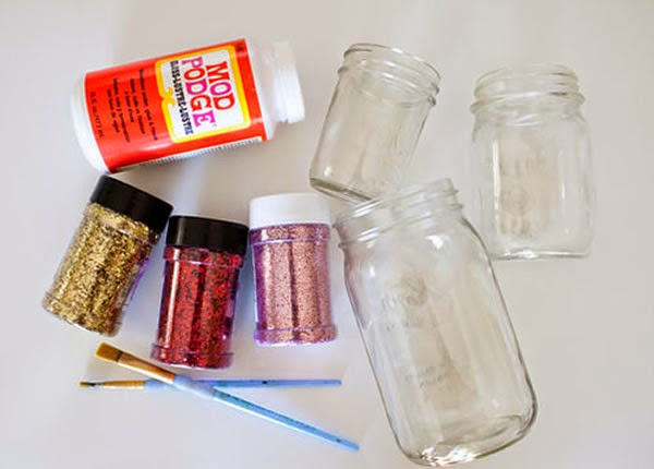 Pote de vidro - materiais