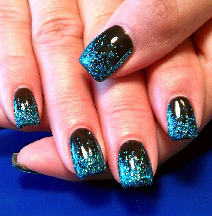 Fading Nails Interest Blue And Black Nail Designs 2018 - Styles Art