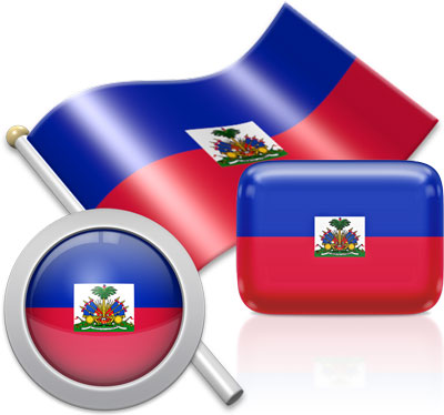 Haitian flag icons pictures collection