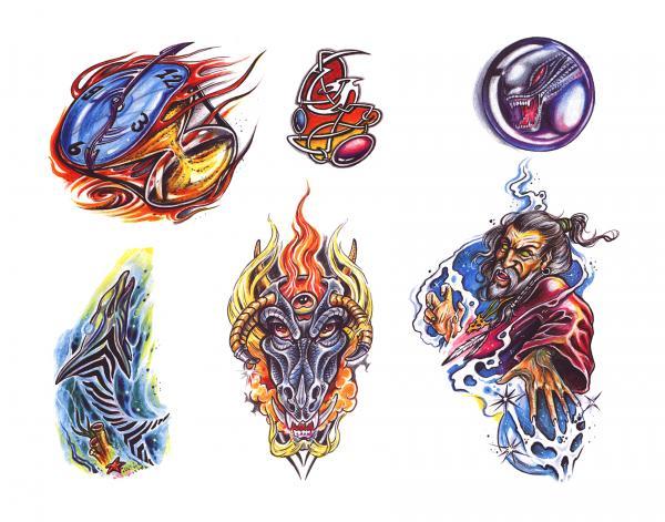 Design Of Mysterious Tattoo, Fantasy Tattoo Designs