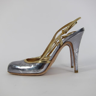 **CLEARANCE** Miu Miu Metallic Slingbacks