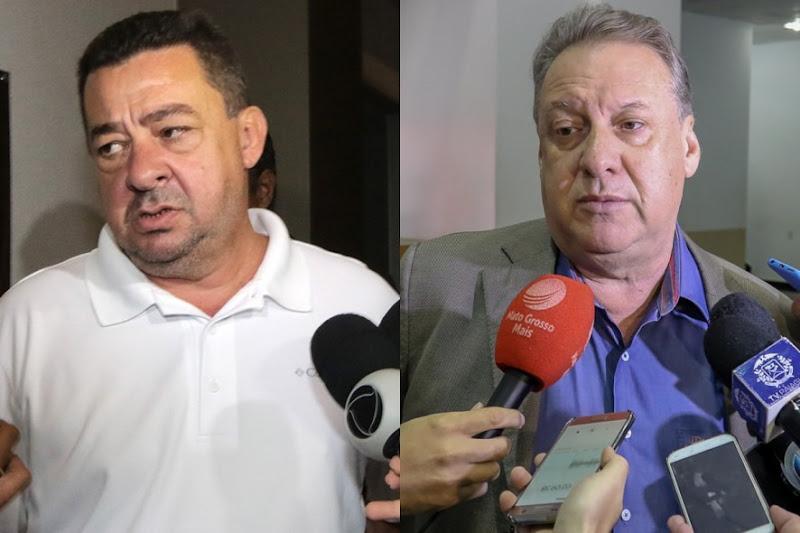 Os deputados estaduais Mauro Savi e Romoaldo Junior