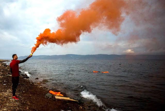 señal de humo salvavidas
