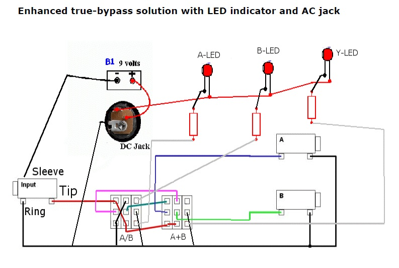 DIY ABY Build Help | My Les Paul Forum Aby Schematic on