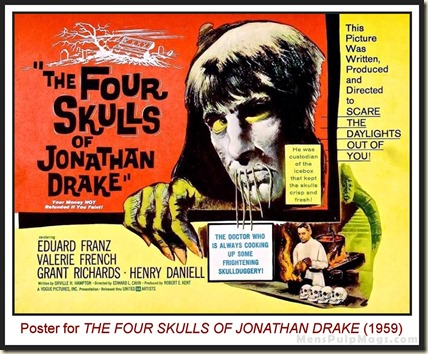 Poster for THE FOUR SKULLS OF JONATHAN DRAKE (1959)