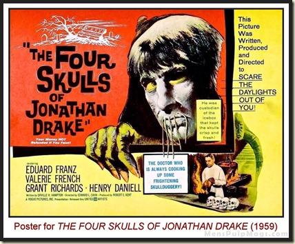 Poster for THE FOUR SKULLS OF JONATHAN DRAKE (1959)