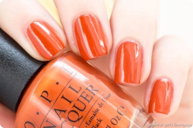 LFB Orange OPI It's a Piazza Cake Tiger Leopard Stamping_