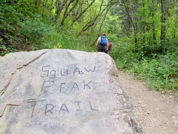 Beginning of the Squaw Peak trail