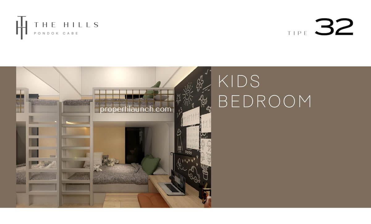 Interior Desain Kids Bedroom The Hills Pondok Cabe Tipe 32
