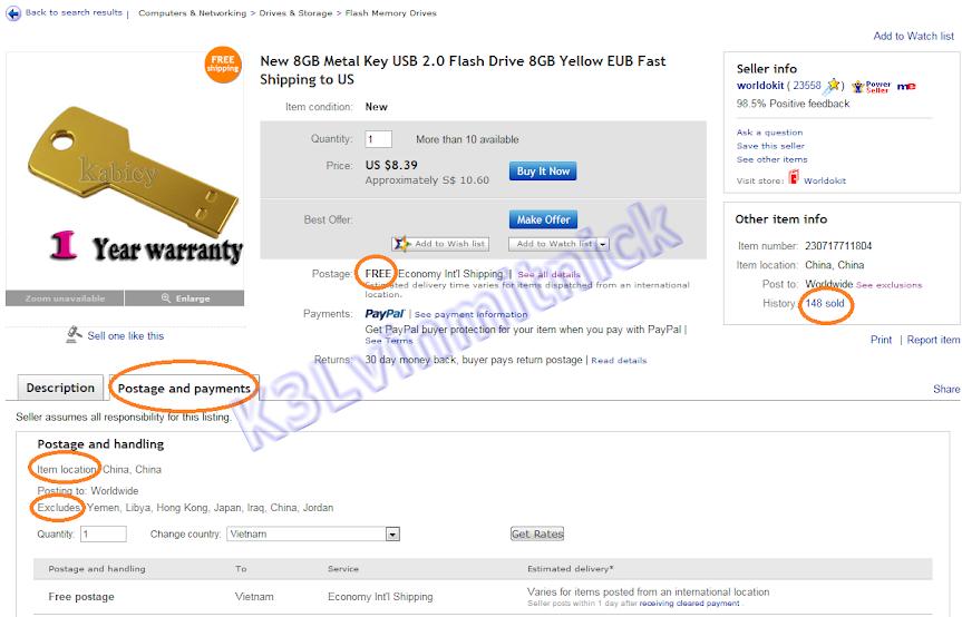 Kinh nghiệm mua bán trên Ebay - 2