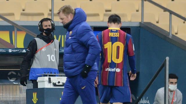 Video : Kad Merah Pertama Messi di Barcelona (Pukul Pemain Lawan)