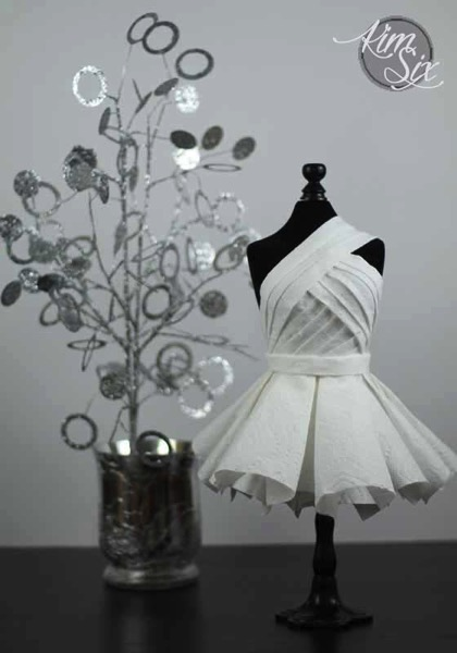 Haute couture paper dress
