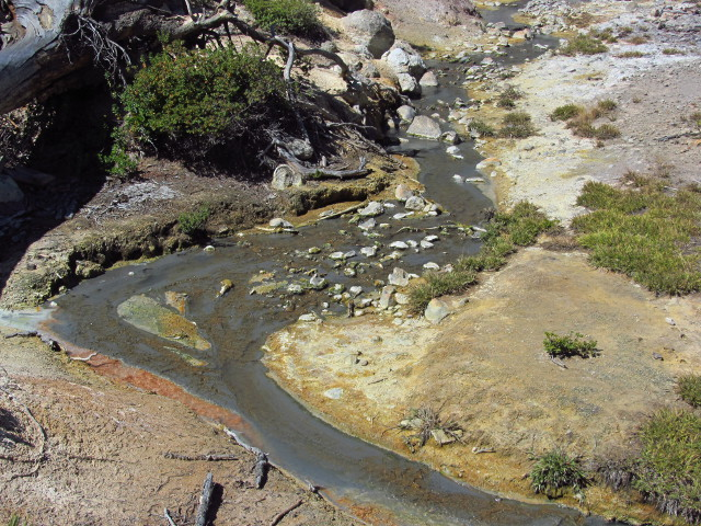 an acidic stream flowing