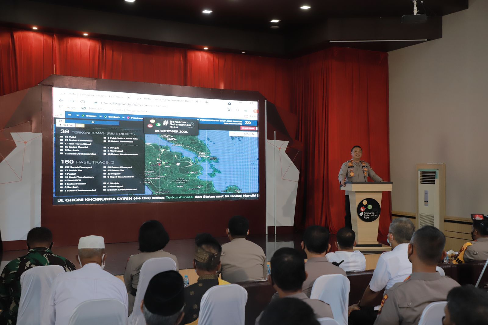 """Kapolda Riau Launching Aplikasi """"Bersama Selamatkan Riau"""" Tangani Covid-19"""