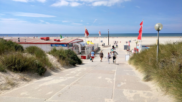 entrance to the extremely large IJmuiden beach in Velsen, Noord Holland, Netherlands