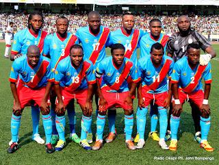 Les Léopards de la RD Congo le 9/9/2012 au stade de martyrs à Kinshasa, lors du match contre la guinée équatoriale. Radio Okapi/ Ph. John Bompengo