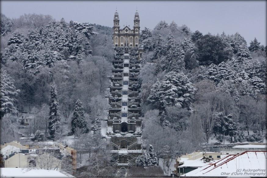 neve lamego 2010 santuário dos remédios - escadaria