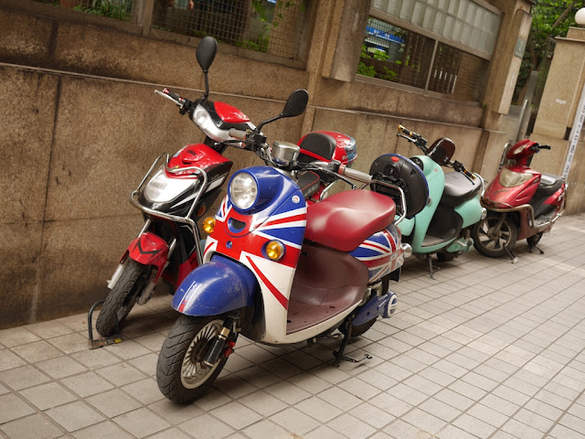 motorbike with a design similar to the U.K. flag