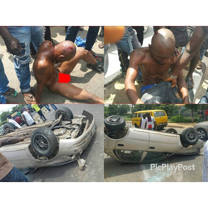 Kidnapper Caught on attempt to kidnap Grandma and a baby in Gbagada