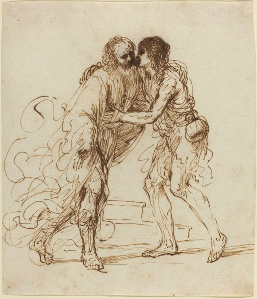 Giovanni francesco barbieri called guercino the return of the prodigal son ca 1640