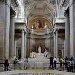 inside the pantheon in Paris in Paris, Paris - Ile-de-France, France