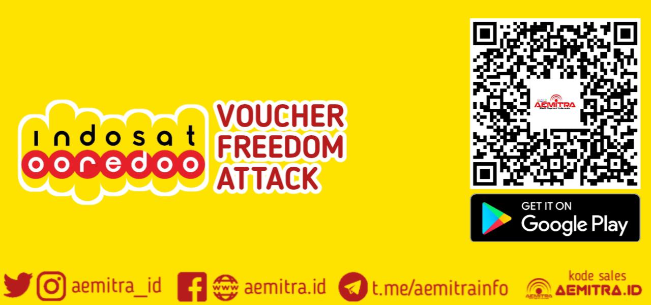 Indosat Voucher FREEDOM ATTACK AEMITRA