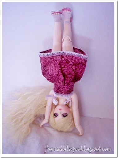 "Wordless Wednesday: ""Look What I Can Do!""  Ball jointed doll doing a hand stand."