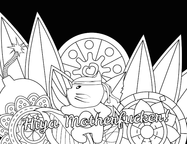 Motherfucker  Swear Word Coloring Page  Adult Coloring Page   Swearstressaway  Es