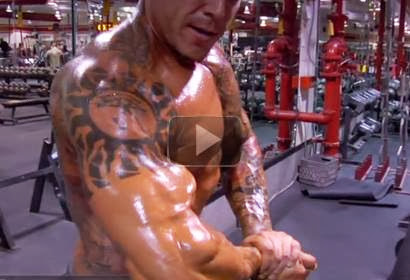 Jason Borrego Doing Preacher Curls for Big Biceps