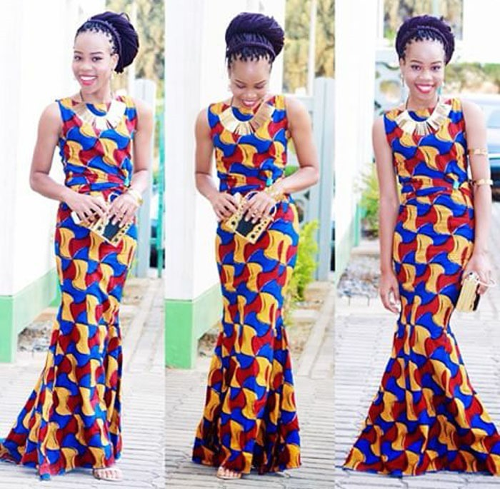 Beautiful long free ankara design (2)